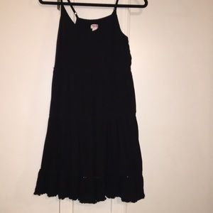 Black spaghetti strap flowy dress